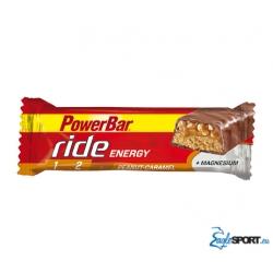 Barretta PowerBar Ride, barretta energetica ricoperta al cioccolato da consumare prima e durante l'attività fisica