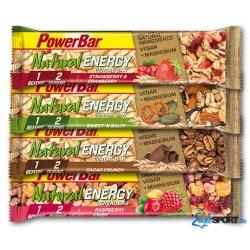 Barretta PowerBar Natural Energy Cereal  da consumare prima e durante l'attività fisica